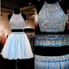 Best Formal Dresses 2015 Two Pieces Sweet 16 Dresses Real Images Halter Neck Beading Sequins Rhinestones Aqua Tulle Homecoming Gowns With Open Back Red Short Homecoming Dress From Uniquebridalboutique, $149.91| Dhgate.Com