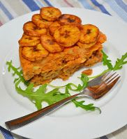 Layered Beans, Yam and Plantain
