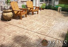 Concrete resurfacing techniques are ideal for revitalizing concrete slabs that are worn and cracked. Decorative Concrete, Concrete Slab, Concrete Resurfacing, Houston Tx, Curb Appeal, Porches, Decks, Ceiling Fan, Aztec