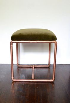 cool Upholstered Copper Bench Olive Velvet by BluMintShop on Etsy, $475.00... by http://www.top50home-decor-ideas.top/stools/upholstered-copper-bench-olive-velvet-by-blumintshop-on-etsy-475-00/