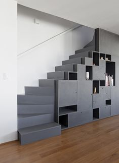 Storage is always part of the client program. Great idea for under stair open space storage.