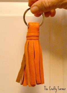 DIY tassel key chains