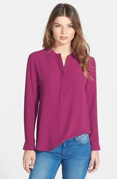 Bellatrix+Zip+Placket+Blouse+available+at+#Nordstrom