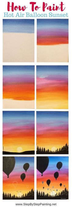 5 Free and Easy Acrylic Painting Tutorials – Brighter Craft Cute Canvas Paintings, Easy Canvas Painting, Simple Acrylic Paintings, Acrylic Painting Tutorials, Diy Canvas Art, Painting Techniques, Diy Painting, Painting & Drawing, Water Color Painting Easy