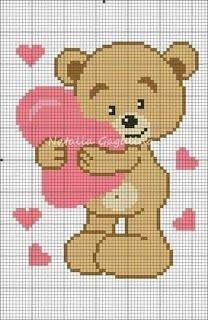 Cross Stitch Boards, Cute Cross Stitch, Cross Stitch Animals, Cross Stitch Kits, Cross Stitch Designs, C2c Crochet Blanket, Tapestry Crochet, Crochet Blanket Patterns, Crochet Baby