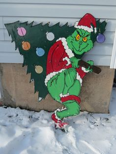 Grinch on pinterest christmas yard art grinch and the grinch