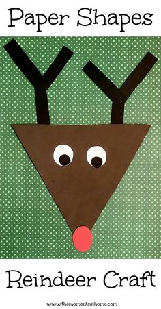 Rudolph the Red Nosed Reindeer Crafts and Activities Teaching kids about shapes is fun with this paper shapes craft for kids. Based on the book Rudolph the Red Nosed Reindeer and part of our weekly virtual book club for kids. Daycare Crafts, Classroom Crafts, Toddler Crafts, Preschool Crafts, Fun Crafts, Arts And Crafts, Preschool Shapes, Christmas Crafts For Kids, Kids Christmas