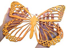 monarch butterfly wall art handmade lasercut wood from THEY ROARED VINTAGE