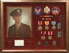Bradley's can help you design the perfect display for your loved one's medals and awards.