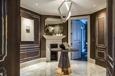 Luxury residential interior architectural design development by Katharine Pooley. Situated next to St. New Homes For Sale, Property For Sale, London Mansion, Palace London, Best Interior, Interior Design, Room Partition Designs, Design Development, Architecture Design
