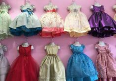 New (never used) - Girls dresses sizes 2-8.order takes 2-3 days (contact info hidden)