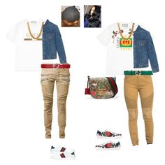 """""""Gucci fly"""" by hahamadornah on Polyvore featuring Gucci, Balmain and King Ice"""