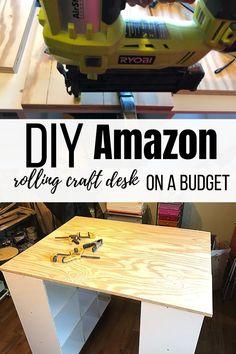 Building a tall craft desk on a budget - Megan plus five