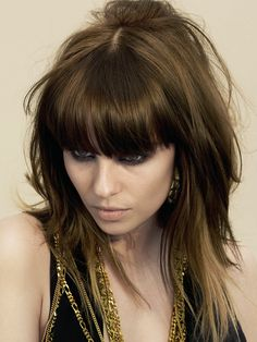 Pictures : Best Hairstyles for Fine Thin Hair with Bangs - Long Layered Haircut For Thin Hair