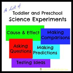 A Great List of Preschool Science Experiments (perfect for toddlers, too)