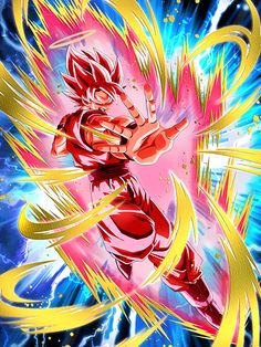 """[Burning to the Last] Super Saiyan Goku (Angel) (Super Kaioken) """"This is so exciting! I'm super pumped!"""""""