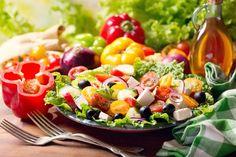 Greek Salad, Cobb Salad, Easter Eggs, Plates, Food, Table, Licence Plates, Dishes, Griddles