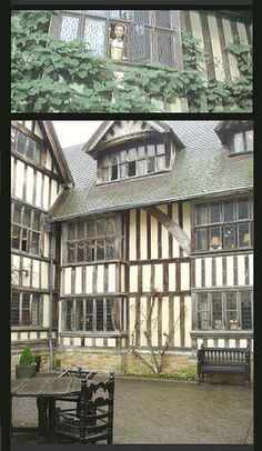 Hever Castle courtyard. Where they actually filmed the scene from the movie Anne of The Thousand Days.