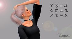 The sims 4 cc - behind ear zodiac tattoo Sims 5, Sims Four, Sims 4 Mm Cc, Sims 4 Cas, Maxis, Sims 4 Piercings, Sims 4 Tattoos, Sims4 Clothes, Sims 4 Cc Makeup
