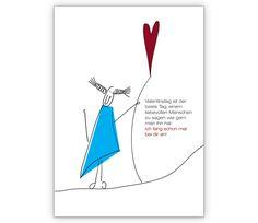 Liebevolle Valentins Grußkarte   Grusskarten Onlineshop