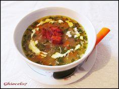 Supă de legume cu bacon Supe, Bacon, Pork Belly