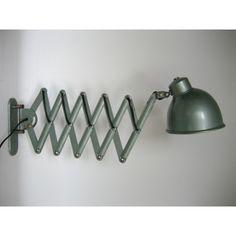 Industriële schaarlamp, Bauhaus stijl