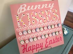 Bunny Hershey Kiss Board (cuteness!)