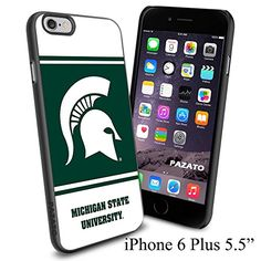 """NCAA M MICHIGAN STATE UNIVERSITY , Cool iPhone 6 Plus (6+ , 5.5"""") Smartphone Case Cover Collector iphone TPU Rubber Case Black Phoneaholic http://www.amazon.com/dp/B00VVO7ZUW/ref=cm_sw_r_pi_dp_M72nvb1PMD2Z4"""