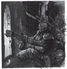 Imperial Guard - Warhammer 40k - Astra Militarum - Cadian Shock Troops - Heavy Flamer