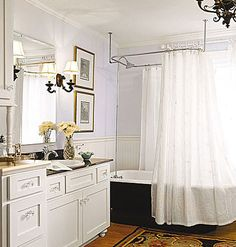 Clawfoot Tub Bathroom Designs Awesome Small Blue & White Bathroom With Old Refinished Clawfoot Tub Inspiration Design