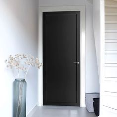 Industrial look bespoke 1 Panel Door with an option to have differing paint finishes, stunning option for your loft style home or a warehouse conversion. Industrial Door, Industrial Interior Design, Industrial Style, Internal Doors Modern, Loft Style Homes, Grey Doors, Black Rooms, Room Doors, Design Your Home