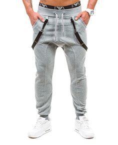 BOLF Hombre Pantalones Jogging Gym Tiempo Libre Bolsillos BBG 1106 Gris M [6F6]