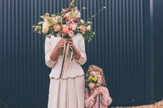 Spring bridal bouquet // Cosy winter wedding at River Cottage // Larissa Joice Photography // The Natural Wedding Company