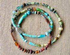 Earthy GROOVE 5 Wrap Beaded Gemstone Leather Bracelet Color