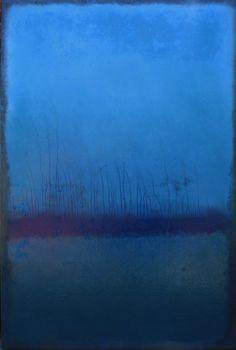Abstract N° 219 - Koen Lybaert, The upside down drips on the lower third create a cold winter landscape. Abstract Landscape, Abstract Art, Mark Rothko, Modern Art, Contemporary Art, Edward Hopper, Art Moderne, Art Abstrait, Art Background
