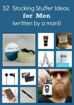 Sometimes the men in your life can be difficult to buy for, so check out these 32 stocking stuffer ideas for men!