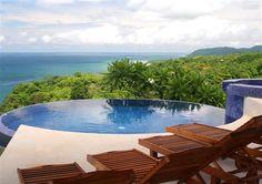 Infinity pool at Anamaya in Montezuma, Costa Rica