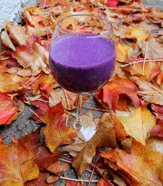 Violet smoothie-just milk, bllueberrys and banana. I'm lovin it :)