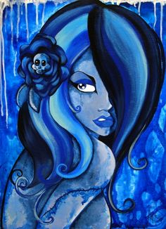 ☆ Blue Death Zombie Girl :¦: Artist Karla Magana ☆
