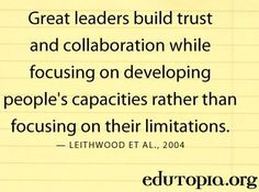 Leadership quote via www.Edutopia.org