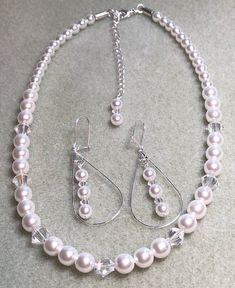 a733a7348 Beautiful Wedding Set for the Beautiful Bride!!! Swarovski pearls and Swarovski  crystal.