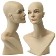 Female  Mannequin Head Form with V Neck