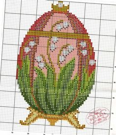 Faberge lily of the valley cross stitch