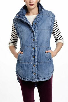 Citizens Of Humanity Quilted Denim Vest - Anthropologie.com
