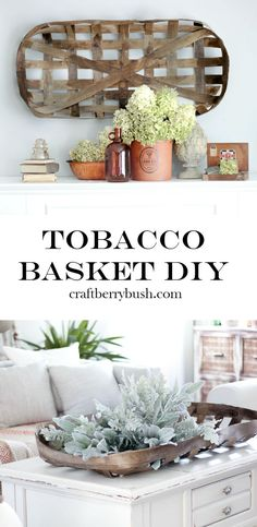 Make Your Own Tobacco Basket with this DIY Tutorial plus Inspire Your Joanna Gaines - DIY Fixer Upper Ideas on Frugal Coupon Living. Joanna Gaines, Handmade Home Decor, Diy Home Decor, Farmhouse Style, Farmhouse Decor, Tobacco Basket Decor, Wal Art, Diy Bathroom, Diy Hanging Shelves