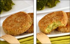 potato, broccoli and hazelnut croquettes (recipe in French) Veggie Dishes, Tasty Dishes, Veggie Recipes, Vegetarian Recipes, Cooking Recipes, Healthy Recipes, Cooking Ideas, Crepes, Nuggets