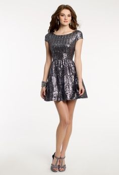 Sequin Skater Dress from Camille La Vie and Group USA for Homecoming