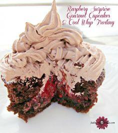 Raspberry Filled Gourmet Cupcakes Tutorial CoolWhipFrosting cbias Raspberry Filled Gourmet Cupcakes Tutorial CoolWhipFrosting cbias Raspberry Filled G. Gourmet Cupcakes, Baking Cupcakes, Yummy Cupcakes, Cupcake Cakes, Cup Cakes, Raspberry Cupcakes, Raspberry Desserts, Mocha Cupcakes, Easter Cupcakes
