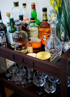 Bar Cart: How to Style & Organize - Fashionable Hostess