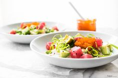 Avocado & Tuna Poke Bowl #recipa via Hapa Nom Nom http://www.yummly.com/recipe/Avocado-and-Tuna-Poke-Bowl-1632864